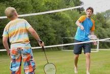 Sport: (tafel)Tennis/badminton / Foto's en speluitleg van (tafel)tennis en badminton