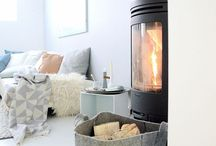 Cozy nordic winter / Stoves and  fireplace inspirations. Jotul desings