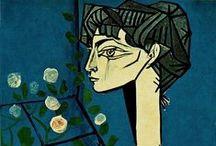 PICASSO, PABLO / Spaanse kunstenaar 25 okt. 1881 - 8 april 1973. Als er maar één enkele waarheid bestond, zou men niet honderd van hetzelfde thema schilderen, citaat Pablo Picasso