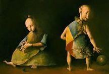 Mazilu, George / Geboren in Roemenië in 1951, is Georges Mazilu bekend om zijn kenmerkende stijl koppelen hedendaagse surrealisme met de kunst van de noordelijke renaissance. Mazilu heeft een Master's Degree in Fine Arts aan de Grigorescu Art Institute in Boekarest.  Inwoner van Frankrijk sinds 1982, Mazilu neemt regelmatig deel aan de grote Parijse kunstwereld salons en tentoonstellingen uitgebreid in Europa en de Verenigde Staten.
