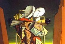 Chirico, Giorgio de / Volos, 10 juli 1888 - Rome, 20 nov, 1978 - was  Grieks-Italiaanse schilder. De Chirico schilderde droombeelden als pre-surrealist ver voor het surrealistisch manifest (1924) en stopte daarmee om terug te keren tot een academische stijl.
