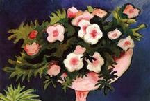 Macke, August / August Macke was een Duits kunstschilder, wiens werk behoort tot het Duits expressionisme.  Geboren: 3 januari 1887, Meschede, Duitsland Overleden: 26 september 1914, Champagne Perioden: Expressionisme, Expressionistische film, Moderne kunst, Der Blaue Reiter