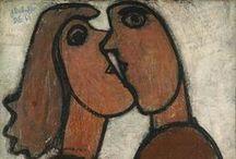 Dubuffet, Jean / Jean Dubuffet (Le Havre, 31 juli 1901 - Parijs, 12 mei 1985) was een Frans kunstenaar die onder andere grote beeldhouwwerken maakte. Hij staat bekend als de propagandist van de term Art Brut.  Jean Dubuffet bezocht de kunstacademie in zijn geboorteplaats Le Havre en ging in 1918 naar Parijs. In 1924 gaf hij zijn kunstzinnige aspiraties op om leiding te gaan geven aan het wijnbedrijf van zijn familie tot 1942, toen besloot hij dat kunst weer de eerste prioriteit moest worden.