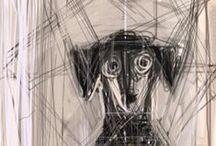 Giacometti, Alberto / Alberto Giacometti (Borgonovo, 10 oktober 1901 - Chur, 11 januari 1966) was een Zwitserse beeldhouwer en schilder. Alberto was een zoon van de post-impressionistische schilder Giovanni Giacometti, een broer van Diego Giacometti (kunstschilder en handwerksman, die later Alberto's assistent werd) en een neef van de schilder Augusto Giacometti. De familie vestigde zich in 1906 in Stampa, waar Alberto van zijn vader een atelier kreeg in een voormalige schuur.