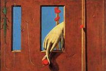 Ernst, Max / Max Ernst (Brühl, 2 april 1891 - Parijs, 1 april 1976) was een Duitse surrealistische kunstenaar, schilder, sieraadontwerper en beeldhouwer en een geestverwant van Marcel Duchamp. In 1919 bezocht hij de kunstenaar Paul Klee en creëerde hij zijn eerste schilderwerken en collages. Hij experimenteerde met verschillende kunstvormen.