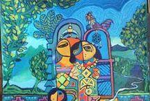 Ayad, Al-Zobadi / Ayad Al-Zobadi is geboren in Babylon, Irak, op 29 augstus 1960. De kunstenaar is moe van de agressieve kant van de mensheid. Zijn schilderijen tonen een bevlogenheid de mens bewust te maken van de andere kant, de liefde voor het leven en de liefde voor de mensheid. Ayads schilderstijl is een combinatie tussen: realisme, symbolisme en expressionisme. Ayad woont en werkt in Irak. Meer over de kunstenaar en zijn schilderijen op www.postersquare.com