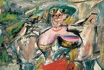 Kooning, Willem de / Willem de Kooning (Rotterdam, 24 april 1904 – Springs (New York), 19 maart 1997) was een Nederlands-Amerikaans abstract expressionistisch kunstschilder. De werken van De Kooning worden gerekend tot het abstract expressionisme.  Ongeveer 1928 begon hij stillevens en figuren te schilderen die elementen van de Parijse School en Mexicaanse invloeden combineerden. Aan het begin van de jaren '30 begon hij te experimenteren met abstracte vormen  Later experimenteerde hij met andere stijlen. .