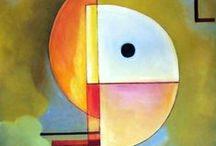 Kandinsky, Wassily / Wassily Kandinsky was een Russisch-Franse kunstschilder en graficus. Zijn schilderstijl behoorde aanvankelijk tot het expressionisme, soms ook wel gerekend tot het symbolisme. Geboren op 16 december 1866  in Moskou. Overleden 13 december 1944, Neuilly-sur-Seine, Nanterre, Frankrijk