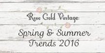 Spring 2016 Trends / Our favorite Trends and Outfit Inspirations for Spring & Summer 2016.