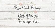 Get your Fringe on. / Embrace the fringe trend with a collection of clothing and jewelry!