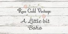 A little bit Boho / Bohemian style clothing and accessories