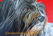 Dog Paintings - my own and others / Dog art in various mediums, various styles.