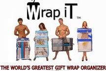 "Gift Wrap Storage Organizer - The Best With Wrap iT / Vertical Gift Wrap Storage Organizer with Wrap iT ""The World's Greatest Gift Wrap Organizer"". See it to believe it. To see the Wrap iT in action http://wrapitgiftbag.com/"