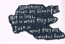 """// Markus Zusak \\ / """"Sometimes you read a book so special that you want to carry it around with you for months after you've finished just to stay near it."""" -Markus Zusak"""