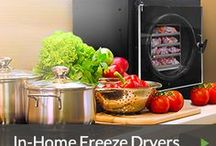 In-Home Freeze Dryer / Have you heard? You can freeze-dry all your foods just like the pros do! Fruits, vegetables, prepared foods, desserts, snacks for home storage and camping. Save money, cut down on food waste, prepare for the future.