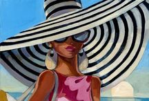 Fashion illustration / Illustrating the glamour of various fashion styles current and vintage.