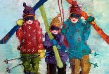 Angela Morgan / The shimmering paintings are colourful and joyful representations of life's little joys.