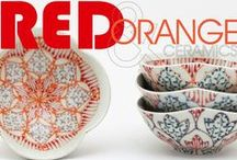 Color Inspiration: Red & Orange / Red and orange ceramics