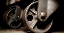 Antique Bond Foundry Industrial Casters / Established in 1905 in Manheim, PA, Bond Caster created iconic designs still coveted today. These are refurbished examples from Iron Anarchy.