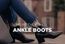 WEAR THEM WELL: Ankle Boots / Womens ankle boots from Jones Bootmaker.  Crafted from the finest leather and suedes. From Chelsea boots to hiking boots in tan, black, metallic and red.