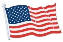 Themafeest USA / Bij Feestartikelen.nl vind u prachtige Amerikaanse slingers en decoraties om uw themafeest aan te kleden.