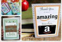 Teacher Appreciation / Various ideas for Teacher Appreciation Week and general teacher appreciation gifts / by Beth Sparr