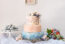 Wedding Cakes & Dessert Stations / Whether you love a classic white fondant cake, tiers of whimsical cupcakes, or a down-home pie bar, this board is sure to make you drool!