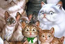 Piirretyt kissat