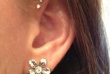 Ear Piercings / Simple, yet effective. Different but still pretty if ya catch my drift.