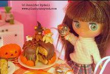 Petite Blythe Dolls / Mixture of Littlest Pet Shop LPS Blythe dolls and petite Blythe dolls. / by Jennifer Rydell