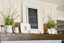 Rustic Farmhouse Styles & Decor / Zinc topped tables, rustic farm tables, grey and white, re-purposed architectural elements, rustic french / by Vintage American Home