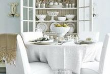 Whites and Greys / White, grey and beige natural colors to decorate a room. / by Vintage American Home