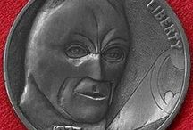 Comic/Superhero: Hobo Coin Carvings