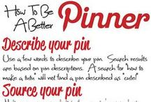 PINTEREST HINTS & TIPS / PINTEREST HINTS & TIPS / by Anna Odom