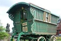 Woonwagens (zigeuners) caravans
