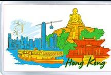 Souvenirs from Hong Kong / Fridge magnets, keychains, souvenir plates, T-shirts  http://www.world-wide-gifts.com/souvenirs/asia/hong-kong/