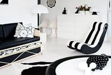 Interiors: Black & White / Combining wonderful whites and beautiful blacks for a modern, contemporary look to your home.