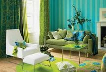 Interiors: Gorgeous Greens / Whether you want pale pastels or electrifying emerald, these gorgeous shades will make you positively green with envy!