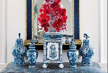 Blue and white / The perfect partnership of blue and white, ceramics, fabrics interiors and nature.