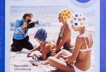 """Badehauben der 60er und 70er Jahre / Nostalgie oder Retro-Look? Hier ein paar großartige Bilder aus unserem Archiv aus der Zeit als die Badehaube noch ein """"Must-Have"""" am Strand war..."""