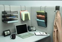Organize Your Cubicle / Pins about decorations and accessories one may want to add to their cubicle to help them with simple solutions to organizational problems.