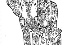 ☮ Art ~ Coloring Pages / Show your creative flare with these fun grownup coloring pages! / by American Hippie