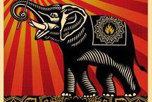 ☮ Art ~ Elephants / by ☮American Hippie