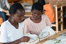 Women from Ibaba's workshop / embroidery in Rwanda
