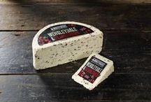 Wensleydale & Cranberries Cheese by Windyridge Cheese Ltd / Crumbly Wensleydale cheese combined with cranberries is a real favourite especially around the festive period, but shouldn't be overlooked as a summery dessert cheese, ideal for those with a sweet tooth. by WIndyridge Cheese Ltd