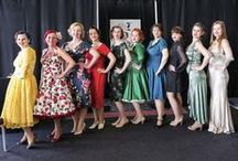 York Festival of Vintage 2015 / our models strut their stuff in House of Foxy design - existing and not yet in production!