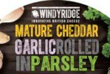 Garlic rolled in Parsley Cheese by Windyridge Cheese Ltd / Cheddar Cheese with Garlic rolled in Parsley