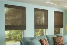 Blinds / Wood Blinds, Faux Wood Blinds, Cell Shades, Roman Shades, etc.