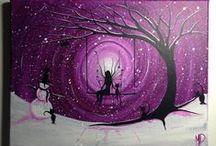 akrilik tuval çizimleri / tuvale akrilik boya ile çizilen resimler
