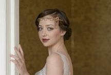"""Jo Barnes NEW """"Chandelier"""" collection / A beautiful collection on 1920s style bridal headdresses inspired by the Greast Gatsby."""